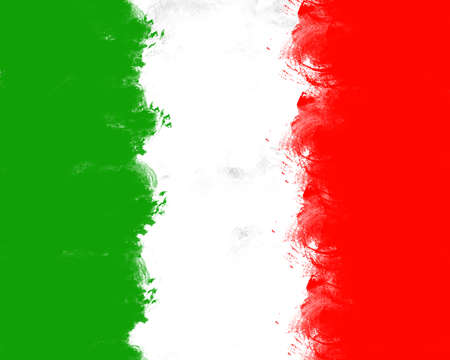 Italian flag painted watercolor background photo