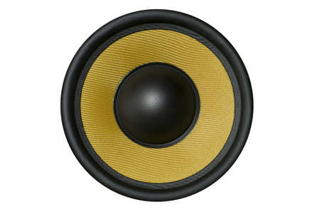 Big speaker, isolated with clipping path. photo