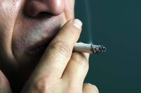 smoking: Smoking cigarette