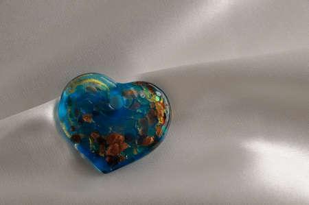 murano: Heart of Murano glass, jewellery   Stock Photo