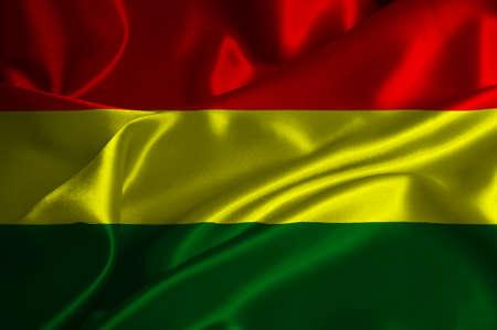 bandera de bolivia: Bolivia bandera en textura satinada.