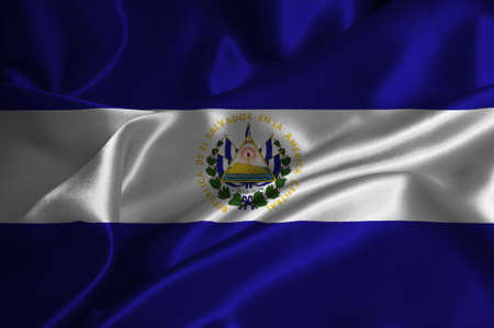bandera de el salvador: Bandera de El Salvador en la textura satinada