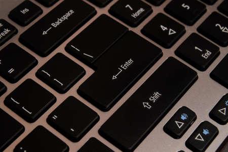 Enter on keyboard. Stock Photo