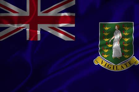 the virgin islands: Virgin Islands UK flag on satin texture.