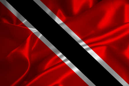 national flag trinidad and tobago: Trinidad and Tobago flag on satin texture.