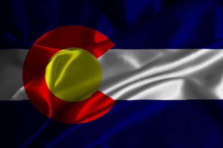 colorado flag: Colorado flag on satin texture