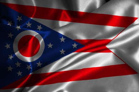 Ohio bandiera satinata Archivio Fotografico - 25229585