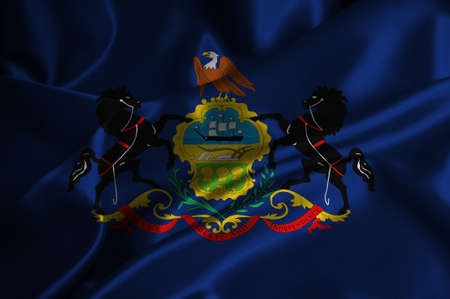 Bandiera Pennsylvania satinata Archivio Fotografico - 25229587