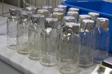 laboratory bottles photo