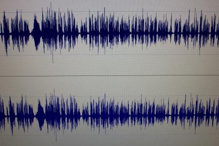 avid: sound edit waveform Stock Photo