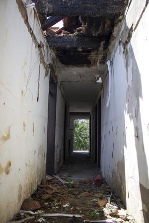 demolished house: Demolished house
