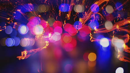 trails of lights: Trails lights out of focis abstract background