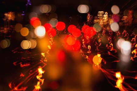 trails of lights: Sentieri luci di focis sfondo astratto