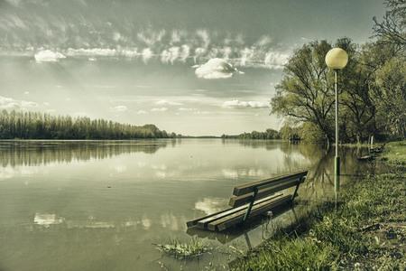 Flooded Bench Zdjęcie Seryjne
