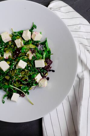 beetroot salad with nut,onion,beetroot leaves