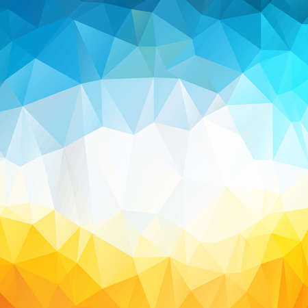 Colorful swirl rainbow polygon background or vector frame. Abstract Triangle Geometrical Background, Vector Illustration. Geometric design for business presentations. yellow, blue, white