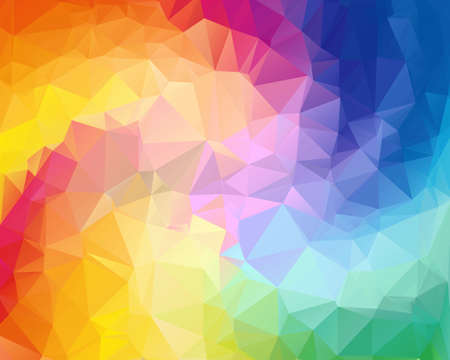 swirl border: Colorful swirl rainbow polygon background. Colorful abstract vector. Abstract rainbow color Triangle Geometrical Background, Rainbow polygon swirl design. Rainbow Colorful swirl rainbow polygon
