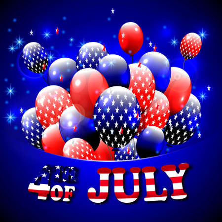 Happy 4th of july design blue background baloons with stars happy 4th of july design blue background baloons with stars striped text m4hsunfo