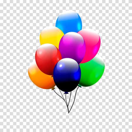 festive: Festive Balloons real transparency.