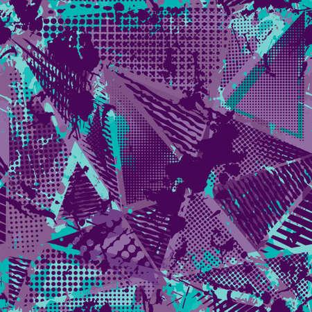 urban grunge: Abstract urban seamless pattern. Grunge texture background.