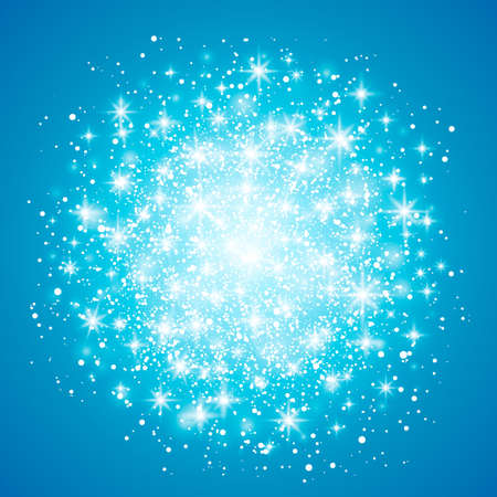 Glow light effect isolated on blue background. illustration. Christmas flash Concept. Star burst with sparkles.