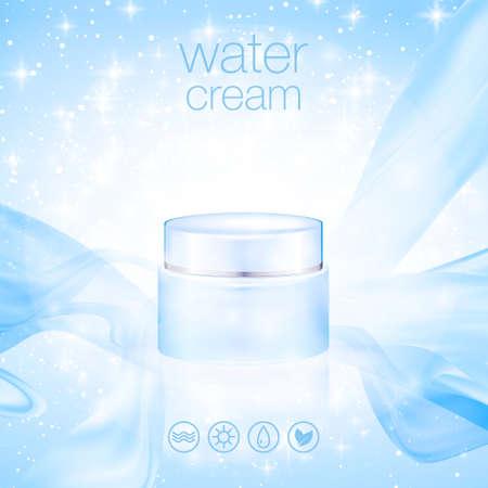 Conception de la publicité des cosmétiques de produits. Vector illustration Banque d'images - 80149546
