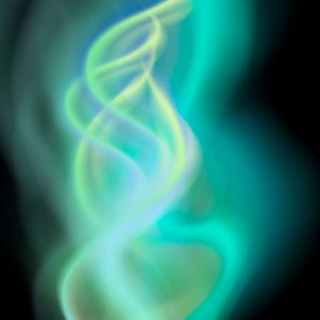 Colorful smoke on black background isolated. abstract realistic blue smoke. 3d illustration. vector. created with gradient mesh Illustration