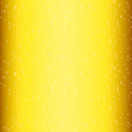 Droplets on freshly poured beer. 3d vector illustration. Illustration