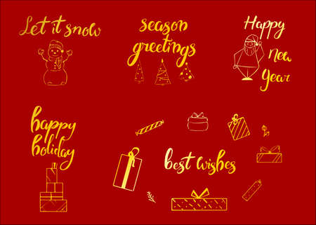 Merry christmas happy new year 2018 greeting card typography merry christmas happy new year 2018 greeting card typography xmas set with hand m4hsunfo