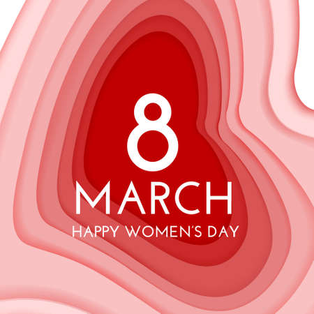 Happy Womens Day greeting card template Иллюстрация