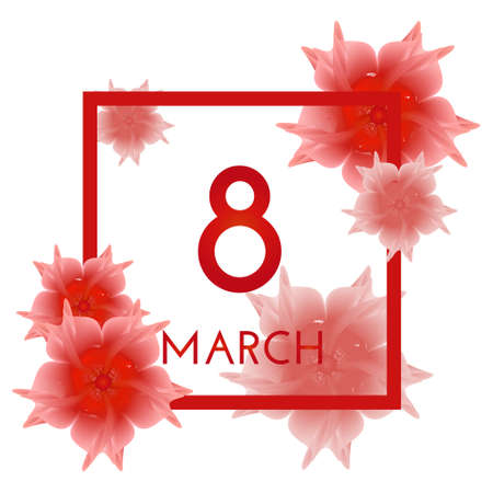 8 march international womens day background. vector illustration