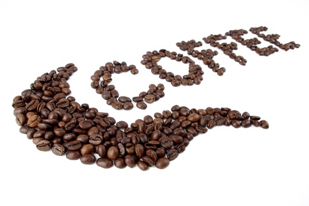 slurp: Coffee text Stock Photo