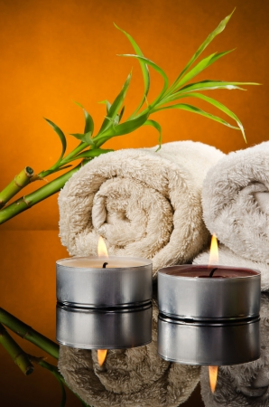 Spa treatment with bamboo and towels Stock Photo - 13601508