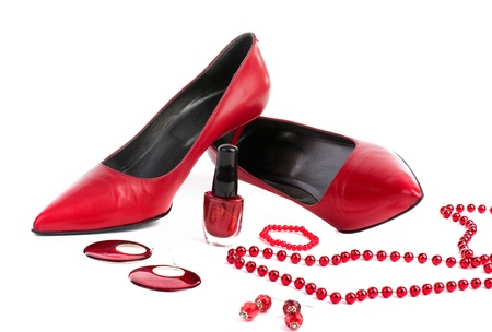 fetish wear: Red shoes