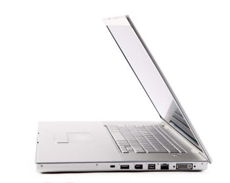 A side view of laptop with white background Stock Photo - 13599261