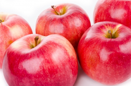 Red apples isolated on white Stock Photo - 18076443