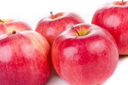 Group of red apples isolated on white Stock Photo - 18076441