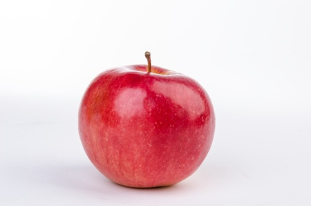 Red apple isolated on white photo