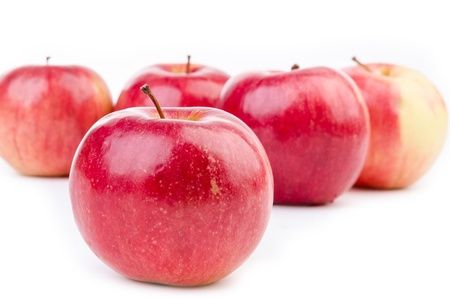 Group of apples with white background Stock Photo - 18076352