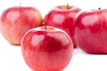 Group of red apples isolated on white Stock Photo - 18076432