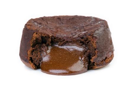 chocolat chaud: Souffle Chocolat chaud isol� sur blanc