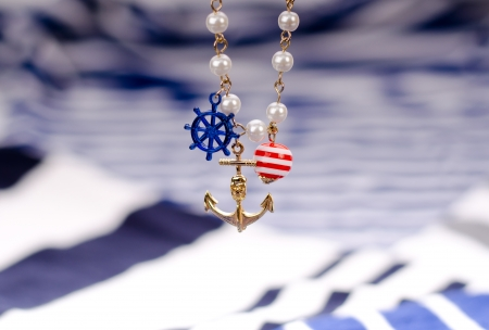 Sailor style with anchor and wheel photo