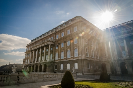 lensflare: Historic building in Budapest with lensflare