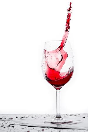 Red wine splashing with white  photo
