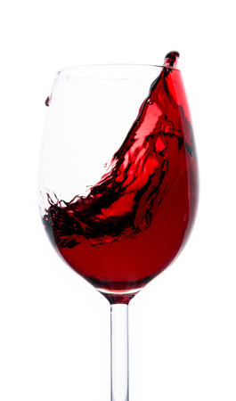 Red wine splash with white  Stock Photo - 23382613