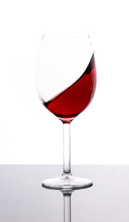 white zinfandel: Glass of red wine with white