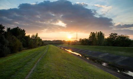 backwater: Beautiful Sunrise Stock Photo