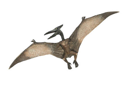 flying pterodactyl dino-dangerous prehistoric creature Stock Photo