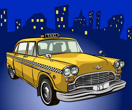 cartoon new: taxi cab