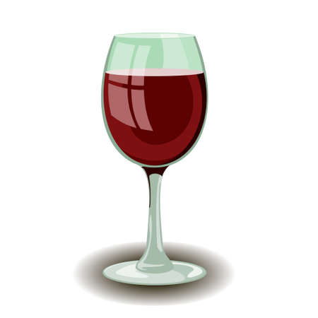 Wineglass with red wine vector Stock Vector - 21937999